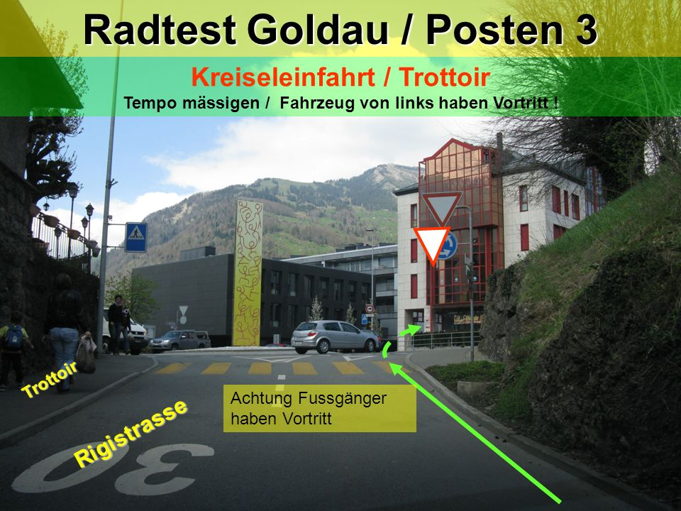 Radtest Goldau / Posten 3