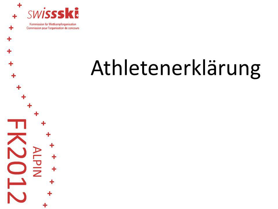 Athletenerklärung