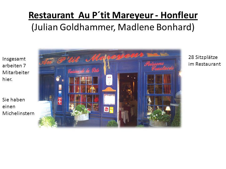 Restaurant Au P´tit Mareyeur - Honfleur (Julian Goldhammer, Madlene Bonhard)