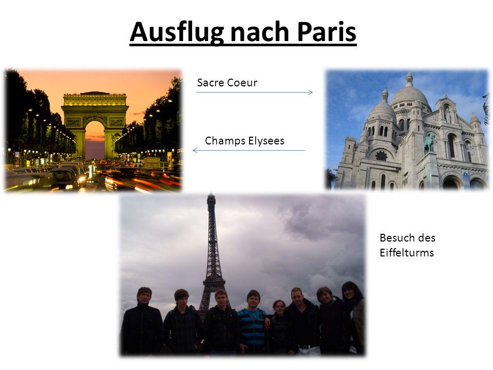 Ausflug nach Paris Sacre Coeur Champs Elysees Besuch des Eiffelturms