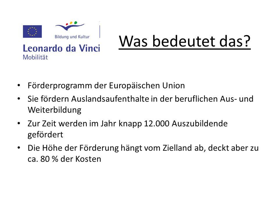 Was bedeutet das Förderprogramm der Europäischen Union
