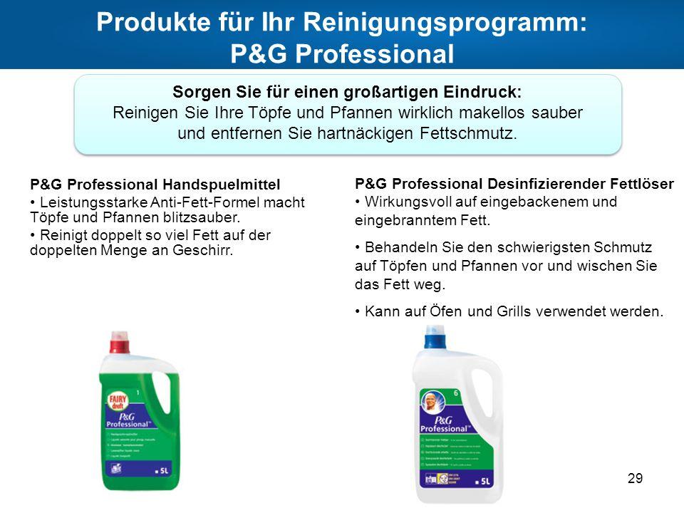 Produkte für Ihr Reinigungsprogramm: P&G Professional
