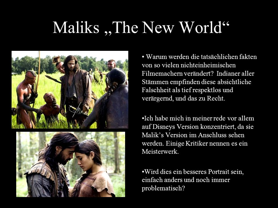 "Maliks ""The New World"