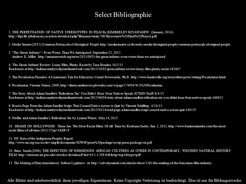 Select Bibliographie