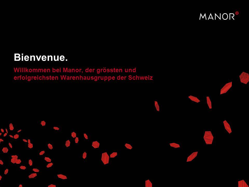 Bienvenue. Willkommen bei Manor, der grössten und erfolgreichsten Warenhausgruppe der Schweiz