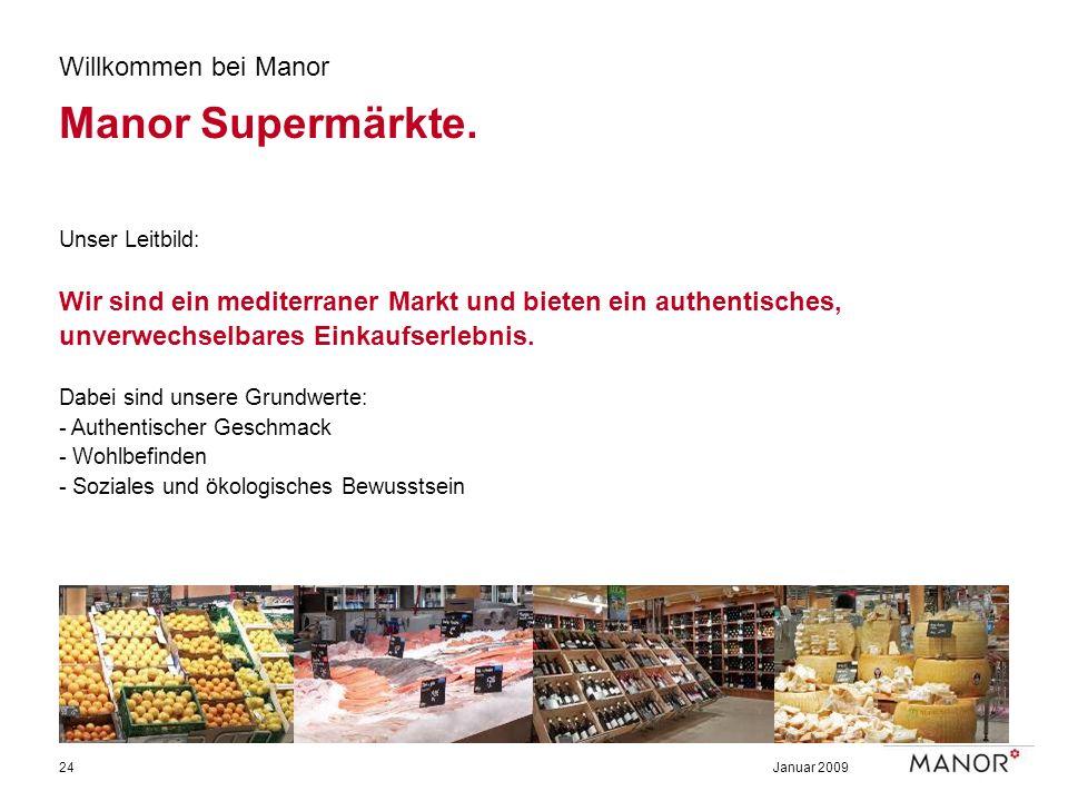 Manor Supermärkte. Willkommen bei Manor