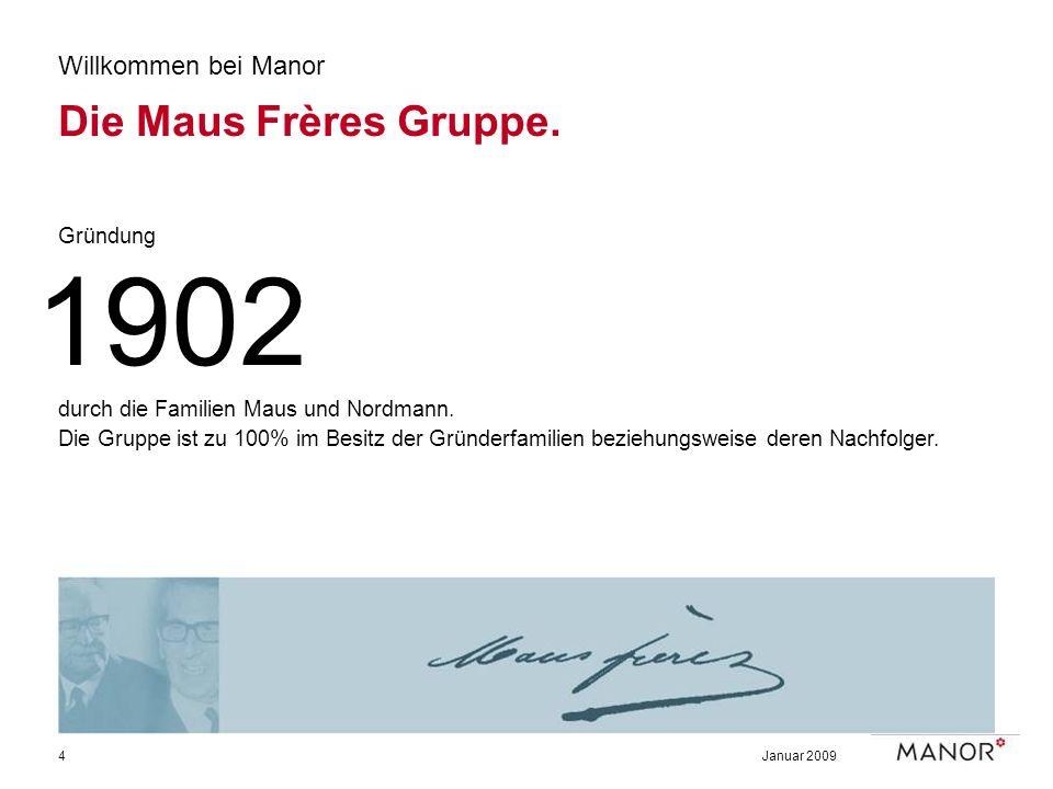 1902 Die Maus Frères Gruppe. Willkommen bei Manor Gründung