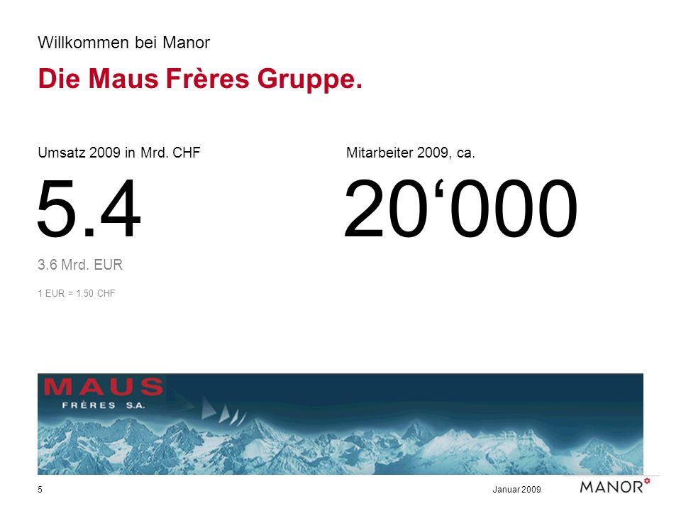 5.4 20'000 Die Maus Frères Gruppe. Willkommen bei Manor