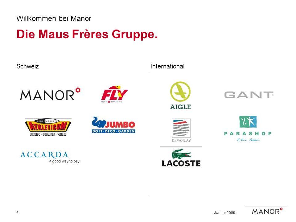 Die Maus Frères Gruppe. Willkommen bei Manor Schweiz International