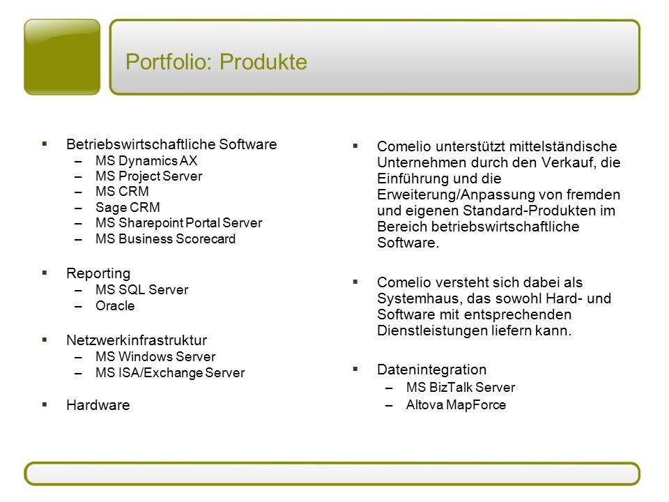 Portfolio: Produkte Betriebswirtschaftliche Software Reporting