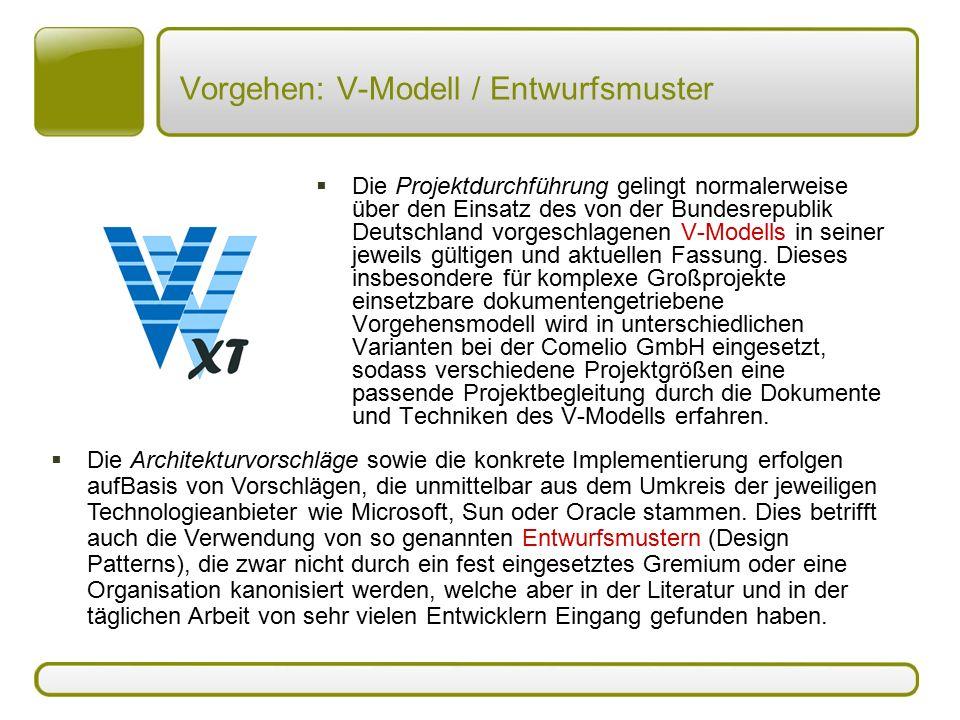 Vorgehen: V-Modell / Entwurfsmuster