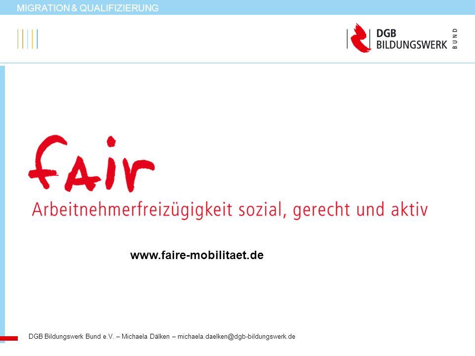 www.faire-mobilitaet.de MIGRATION & QUALIFIZIERUNG