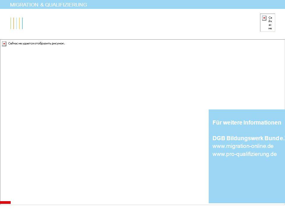Für weitere Informationen DGB Bildungswerk Bund e.V.
