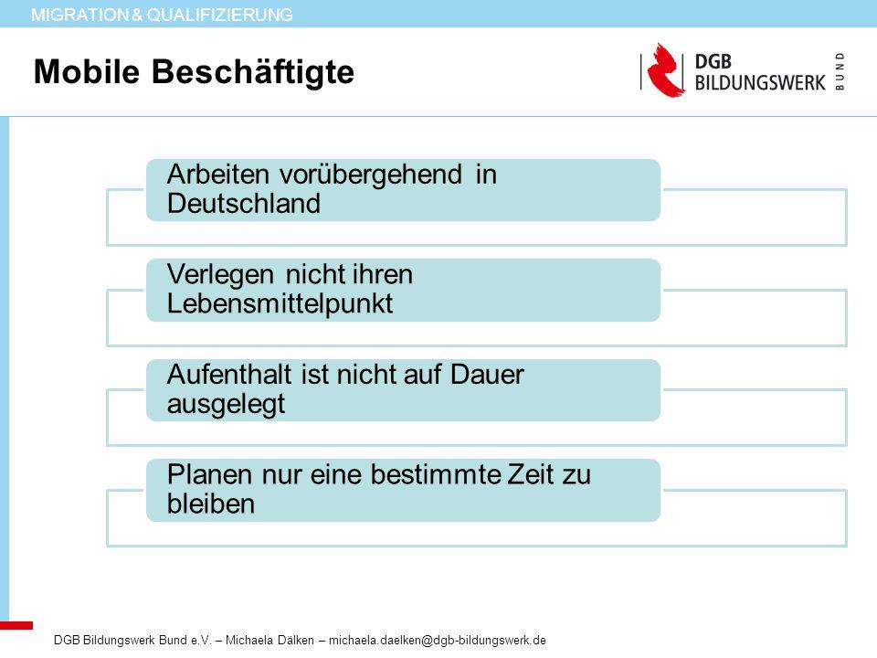 Mobile Beschäftigte Arbeiten vorübergehend in Deutschland