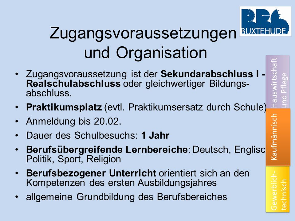 Zugangsvoraussetzungen und Organisation