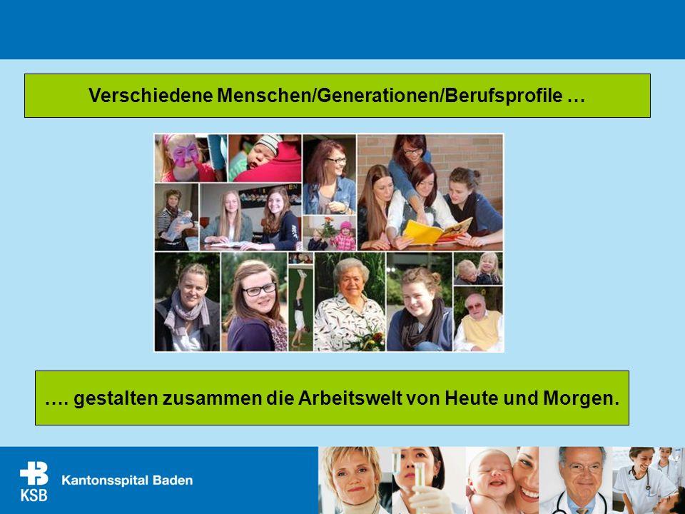 Verschiedene Menschen/Generationen/Berufsprofile …