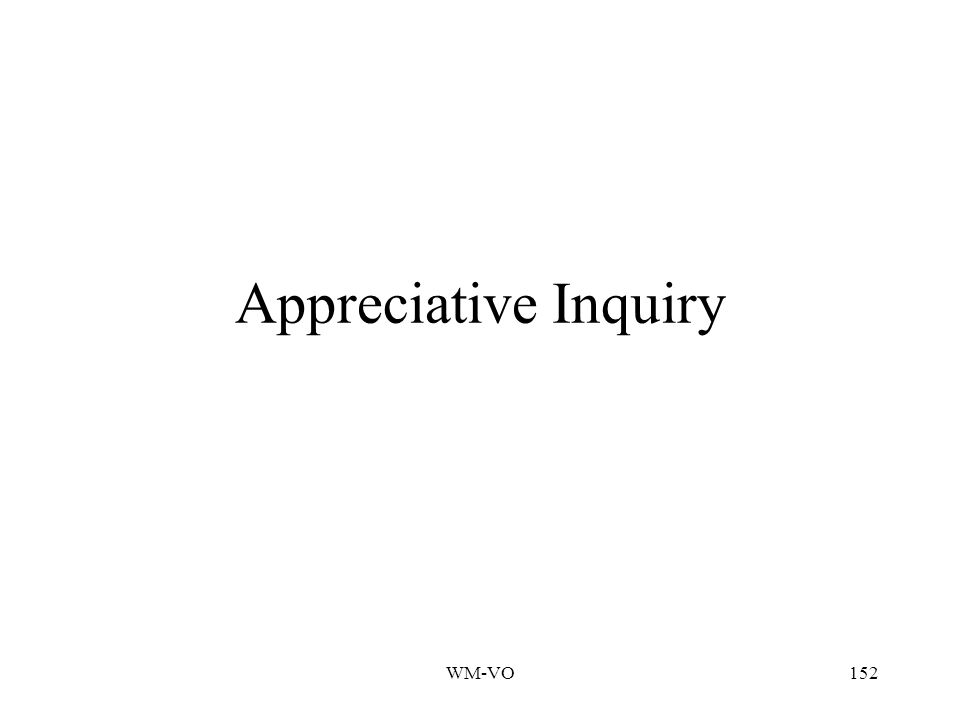 Appreciative Inquiry WM-VO