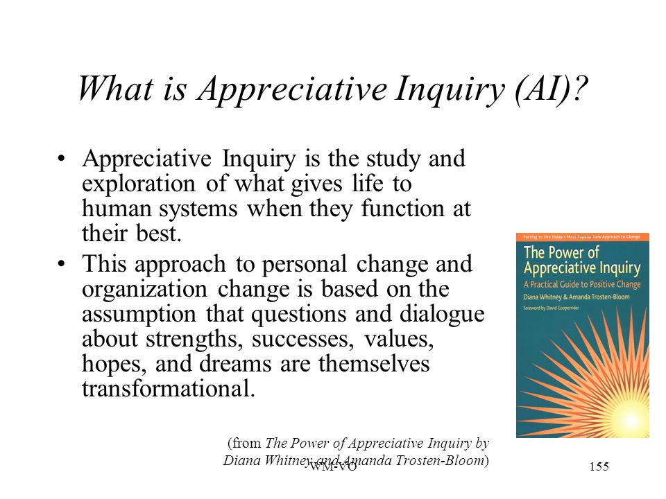 What is Appreciative Inquiry (AI)