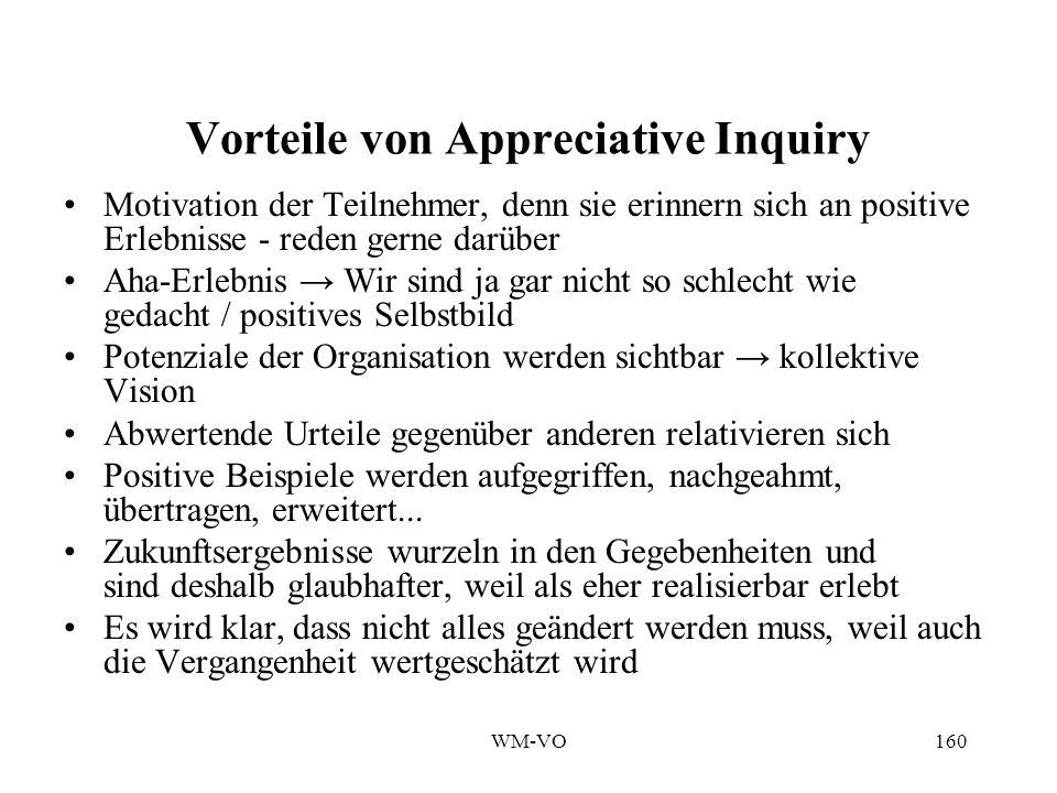 Vorteile von Appreciative Inquiry