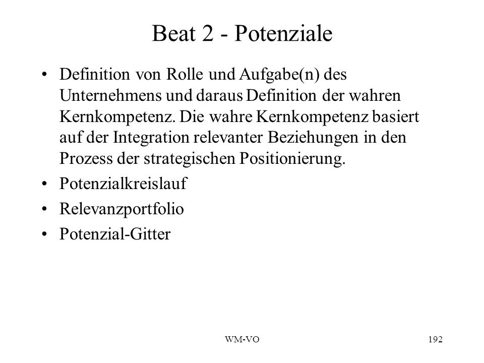 Beat 2 - Potenziale