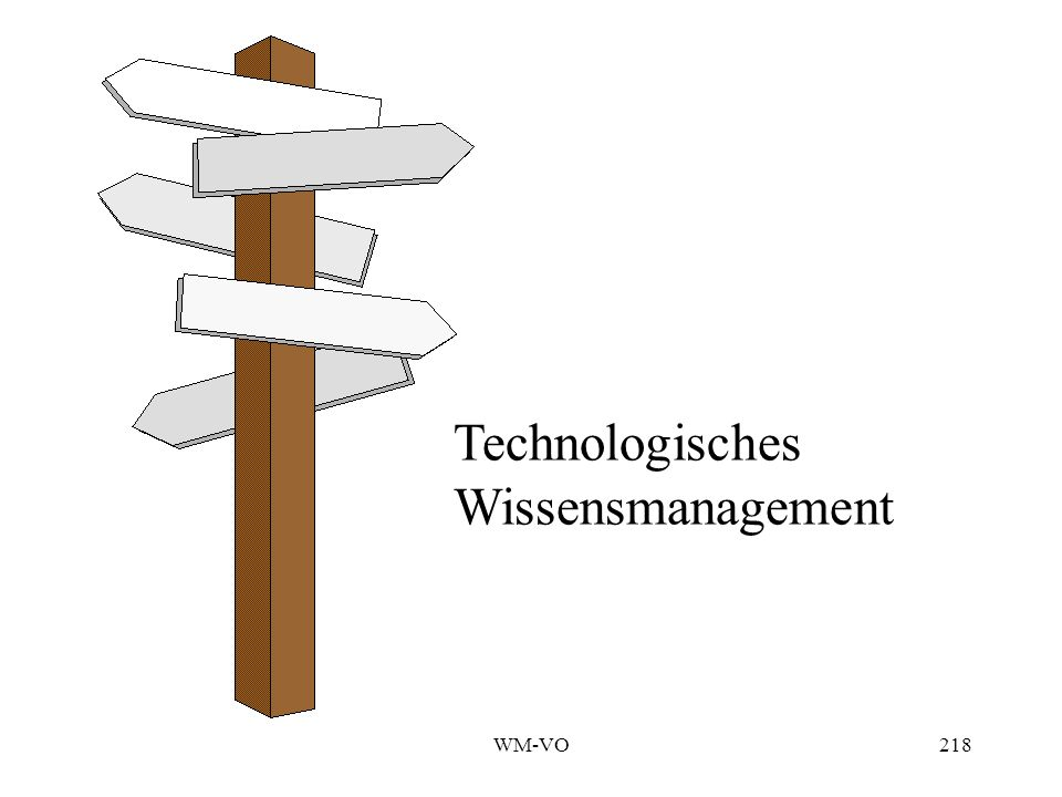 Technologisches Wissensmanagement WM-VO