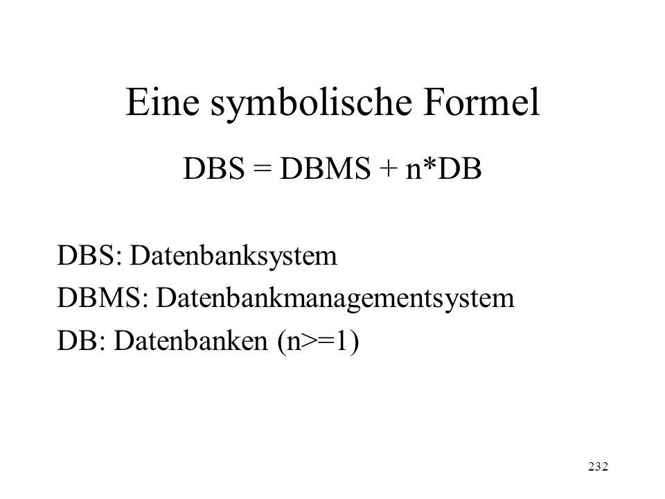 Eine symbolische Formel