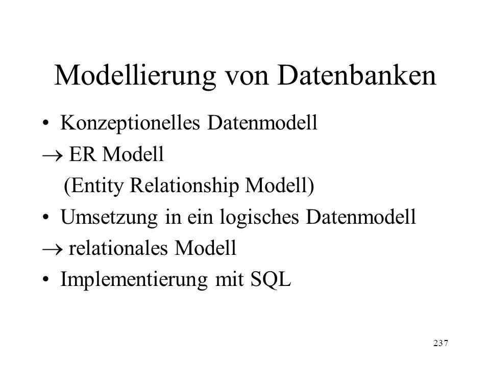 Modellierung von Datenbanken