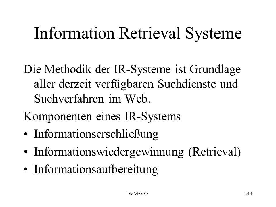 Information Retrieval Systeme