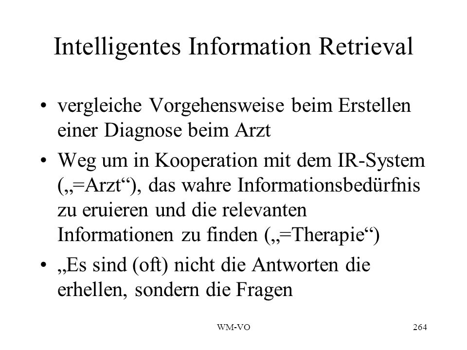 Intelligentes Information Retrieval