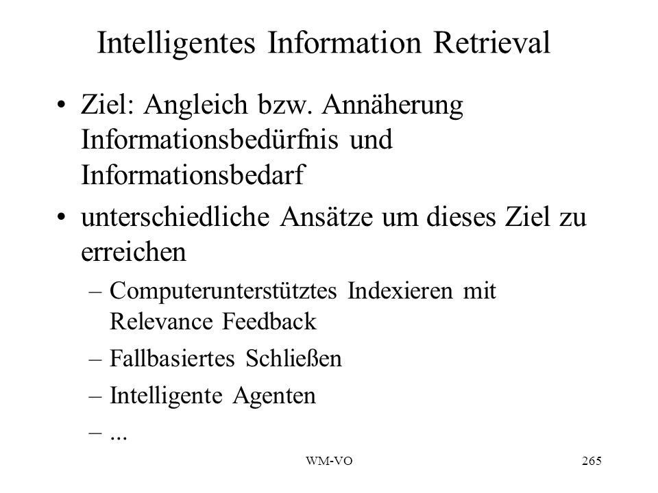Intelligentes Information Retrieval