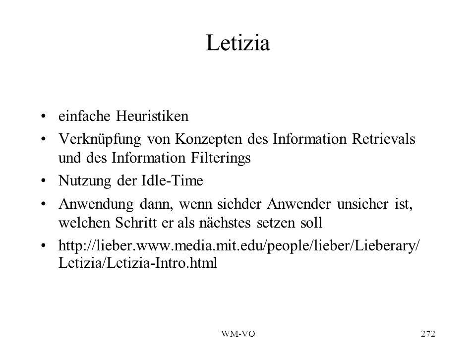 Letizia einfache Heuristiken