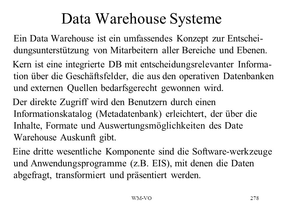 Data Warehouse Systeme