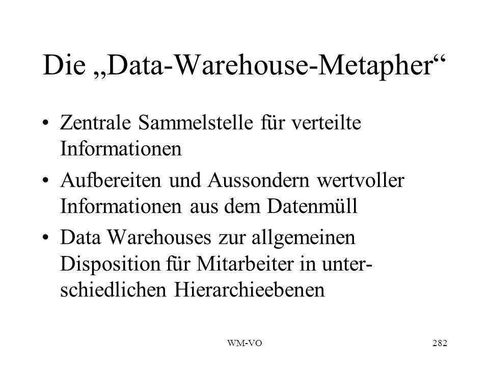 """Die """"Data-Warehouse-Metapher"""