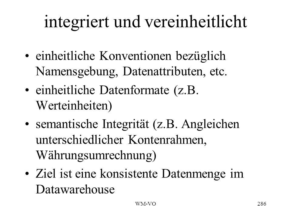 integriert und vereinheitlicht