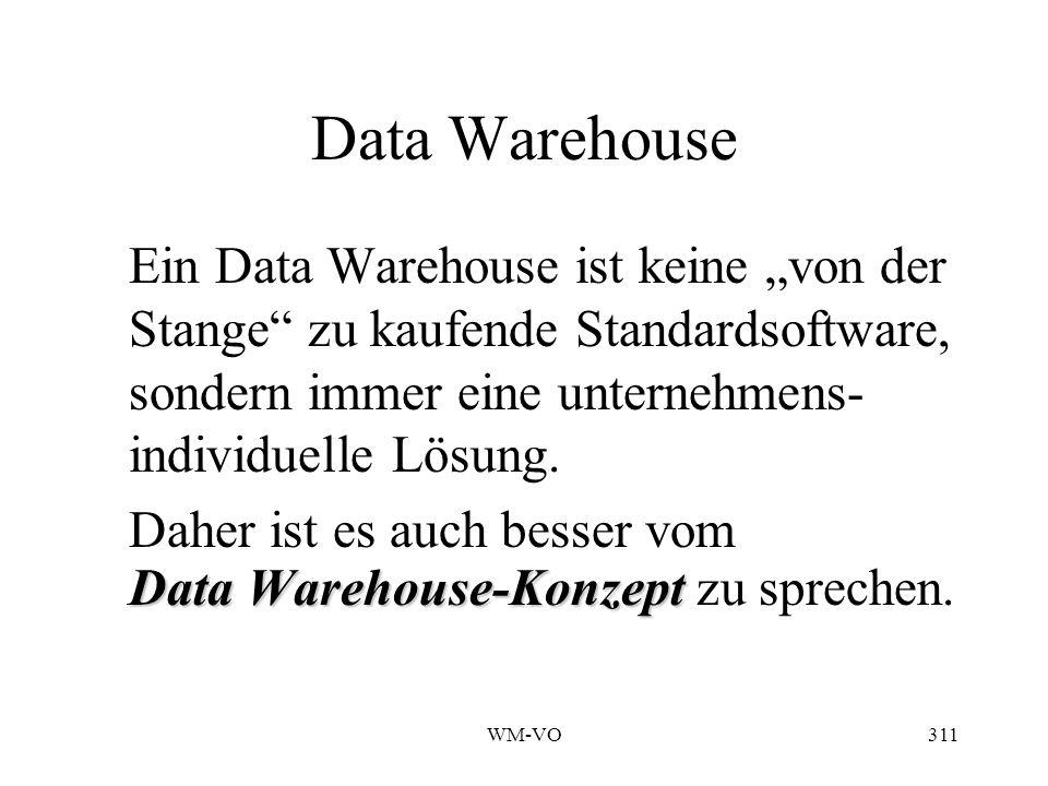 Data Warehouse Daher ist es auch besser vom
