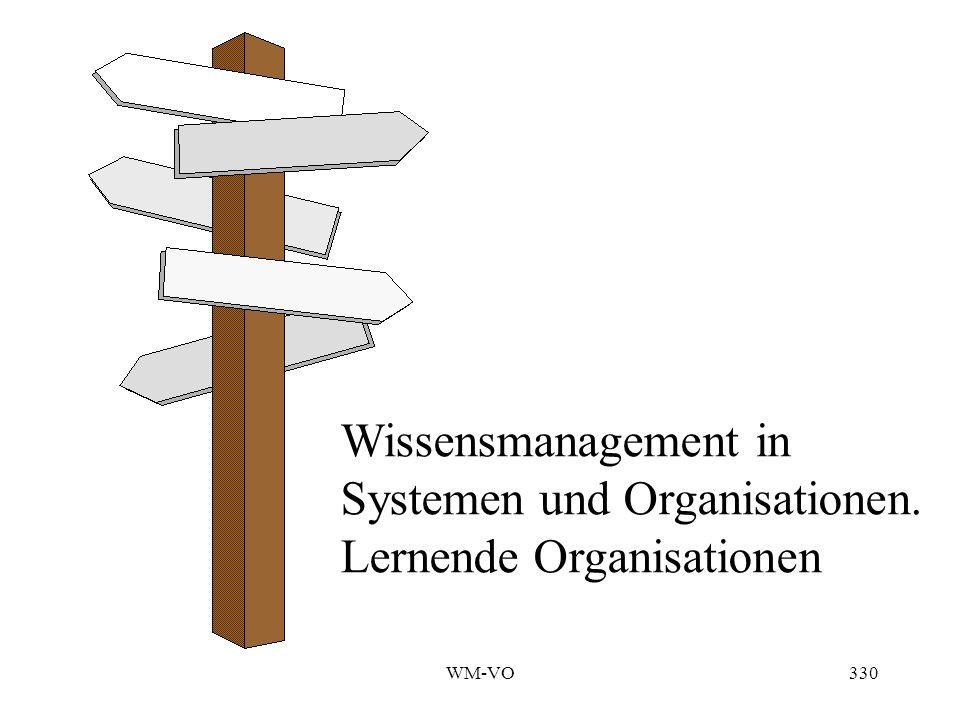 Systemen und Organisationen. Lernende Organisationen