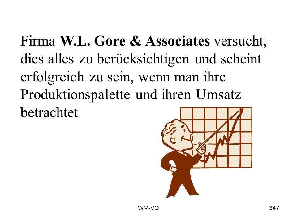 Firma W.L. Gore & Associates versucht, dies alles zu berücksichtigen und scheint erfolgreich zu sein, wenn man ihre Produktionspalette und ihren Umsatz betrachtet