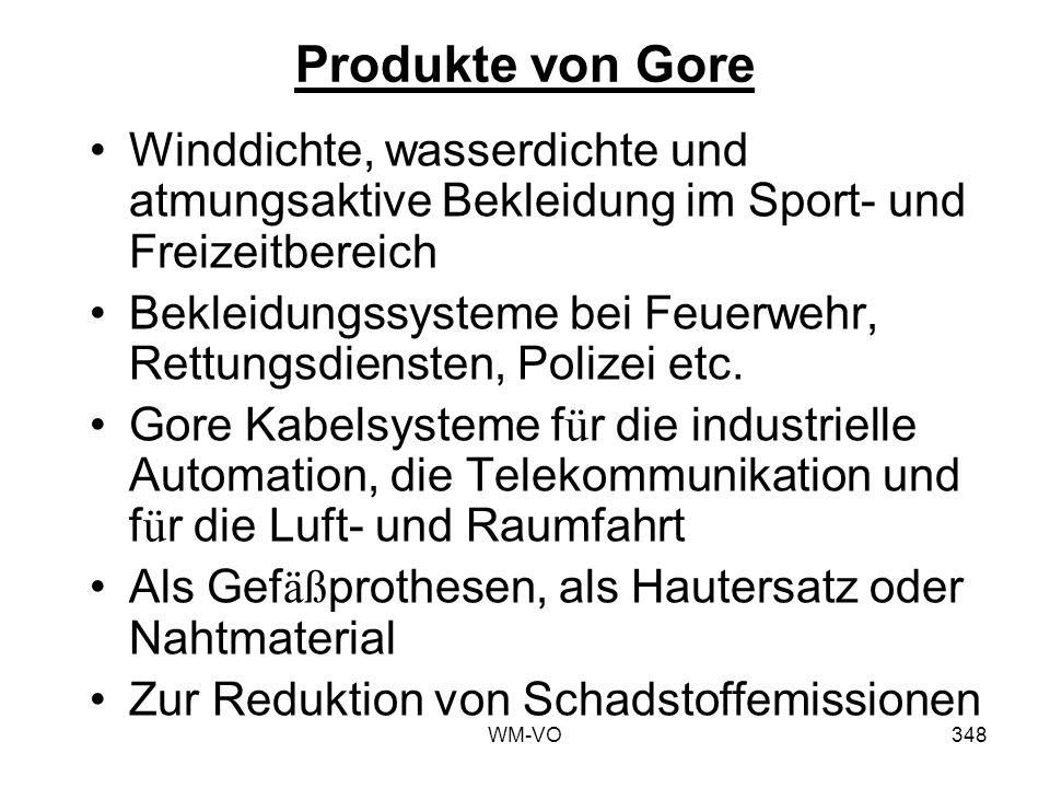 Produkte von Gore Winddichte, wasserdichte und atmungsaktive Bekleidung im Sport- und Freizeitbereich.