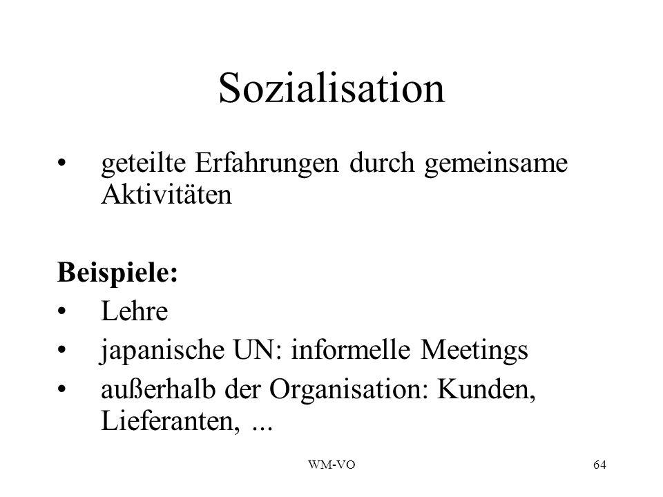 Sozialisation geteilte Erfahrungen durch gemeinsame Aktivitäten