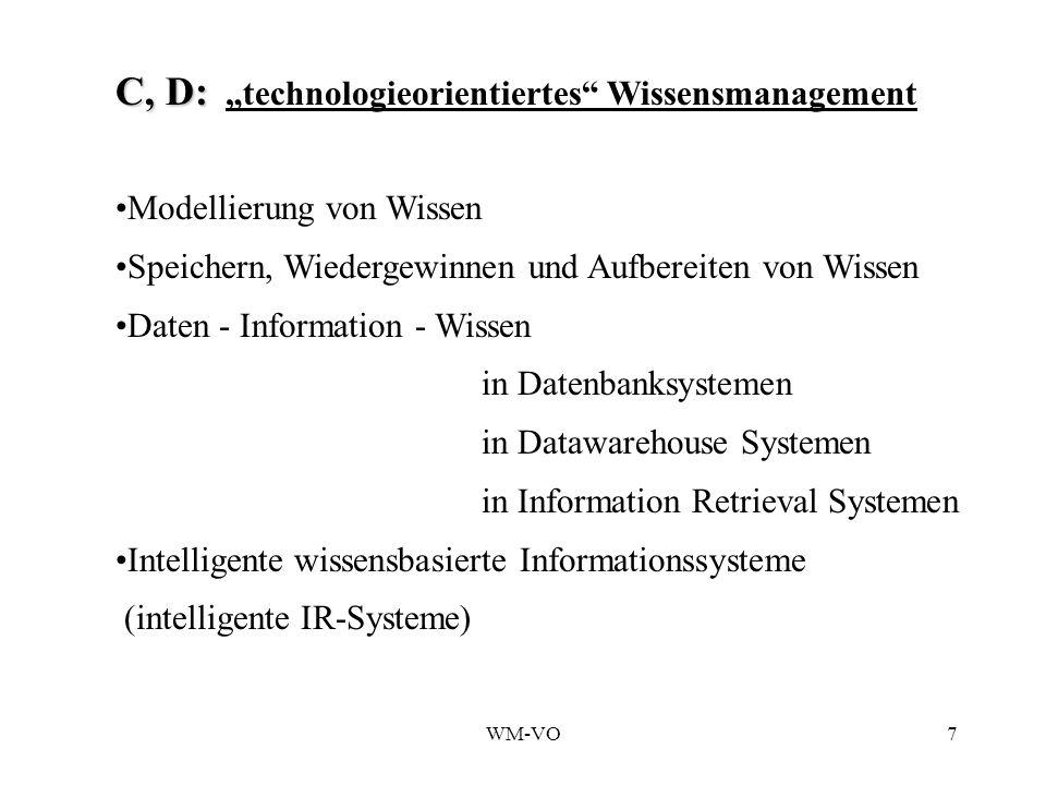 """C, D: """"technologieorientiertes Wissensmanagement"""