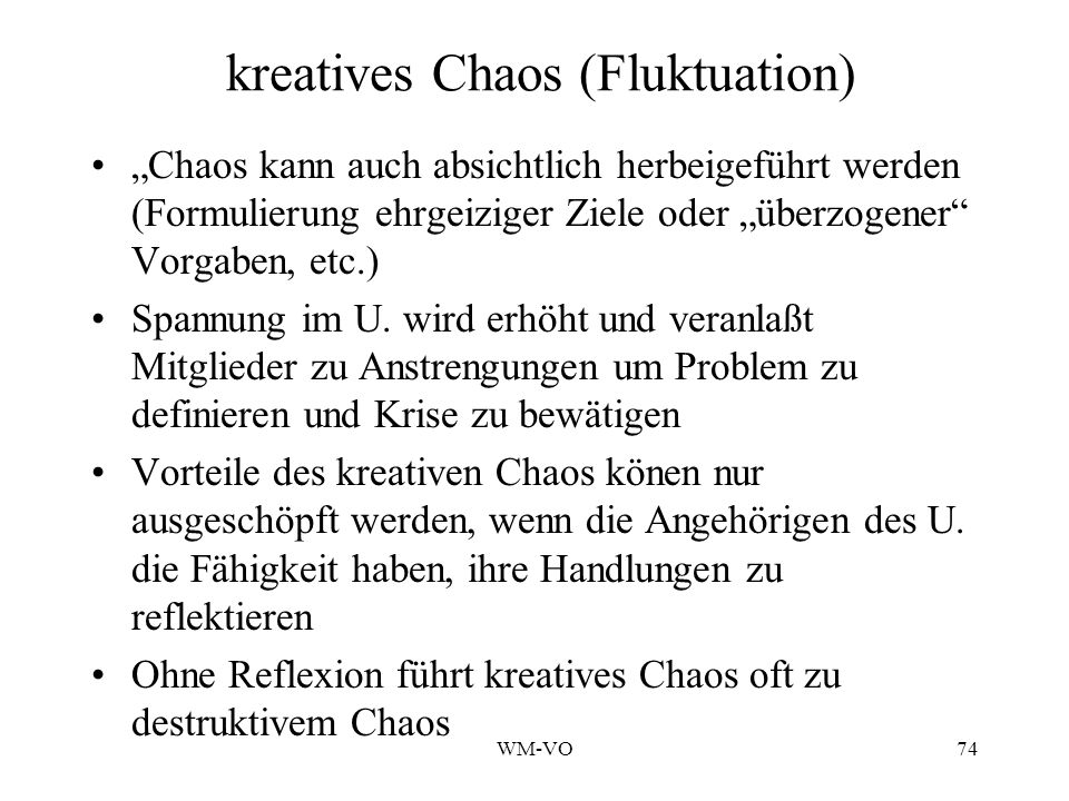 kreatives Chaos (Fluktuation)