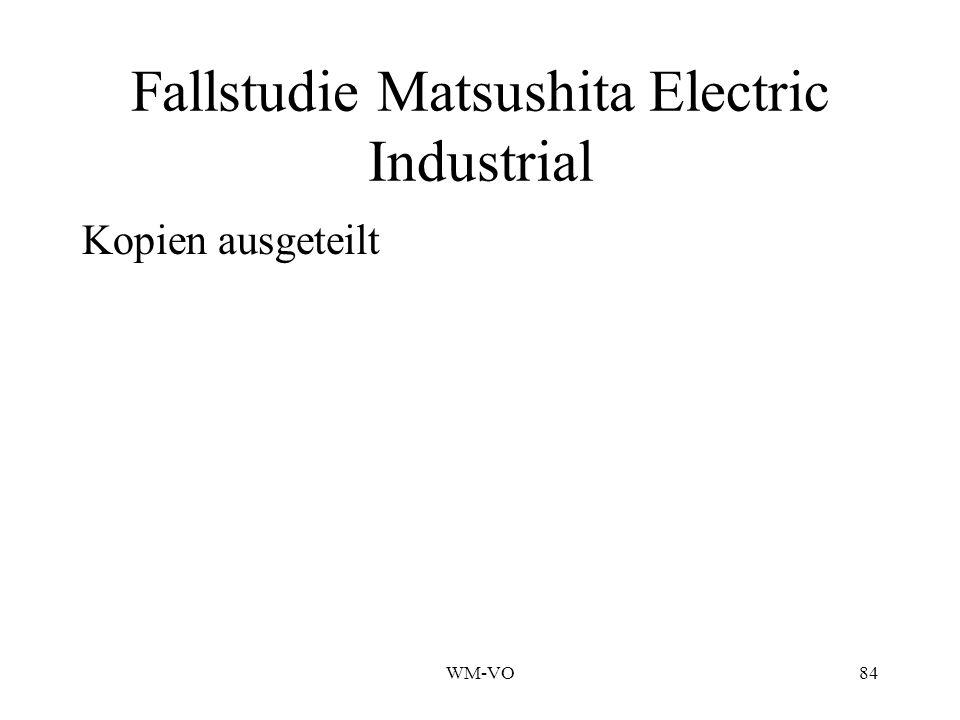 Fallstudie Matsushita Electric Industrial