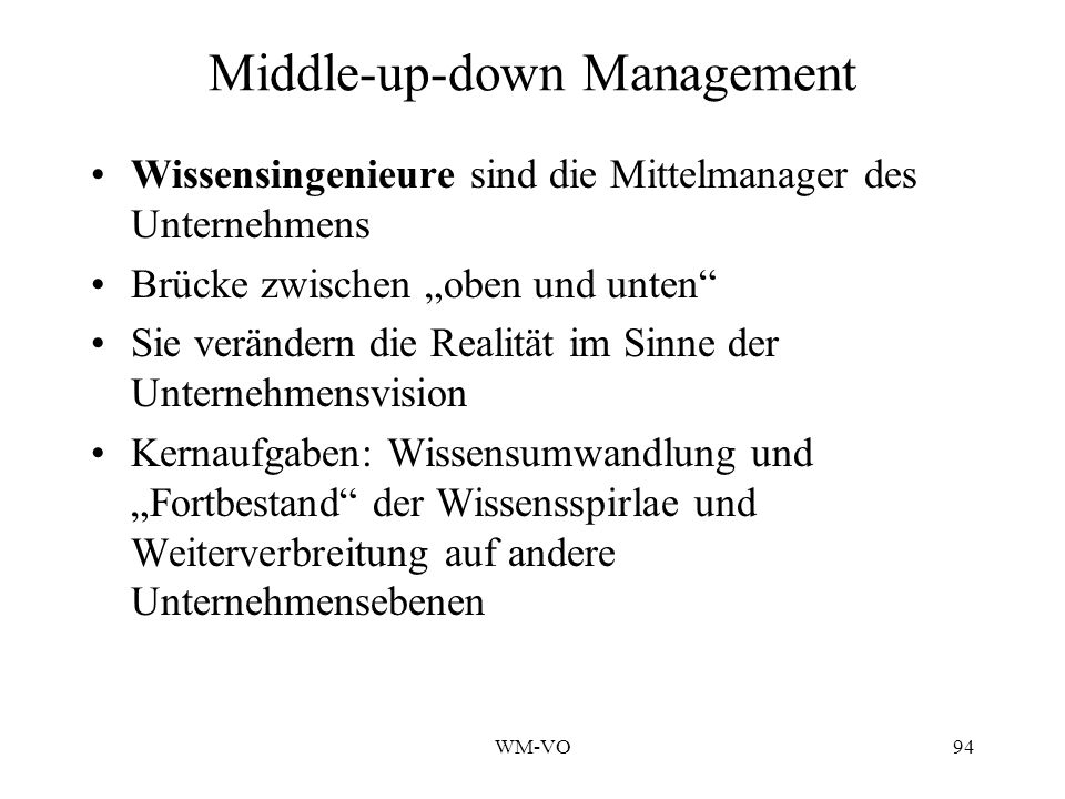 Middle-up-down Management