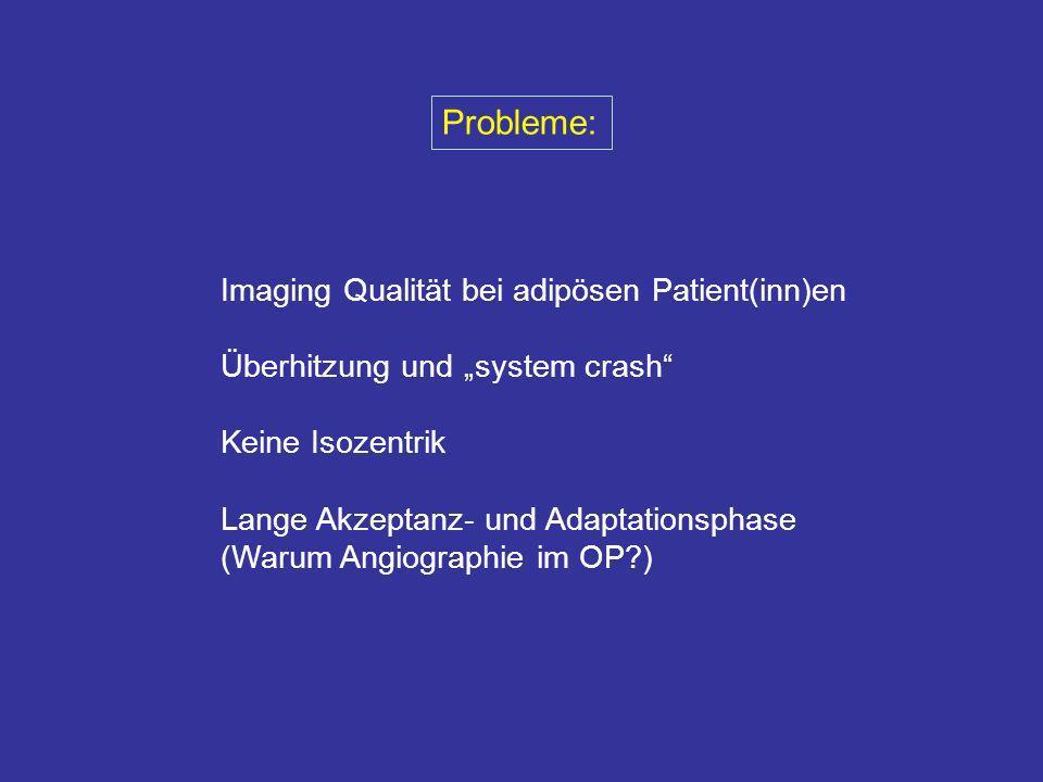 Probleme: Imaging Qualität bei adipösen Patient(inn)en