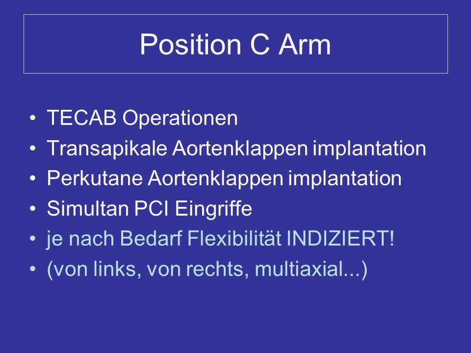 Position C Arm TECAB Operationen