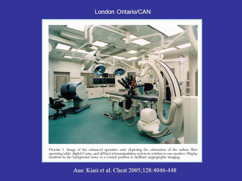 London Ontario/CAN Aus: Kiaii et al. Chest 2005;128:4046-448