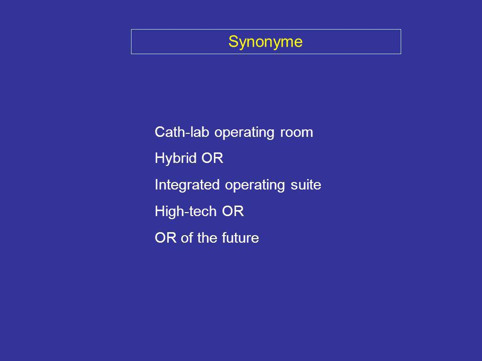 Synonyme Cath-lab operating room Hybrid OR Integrated operating suite