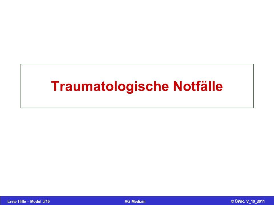 Traumatologische Notfälle