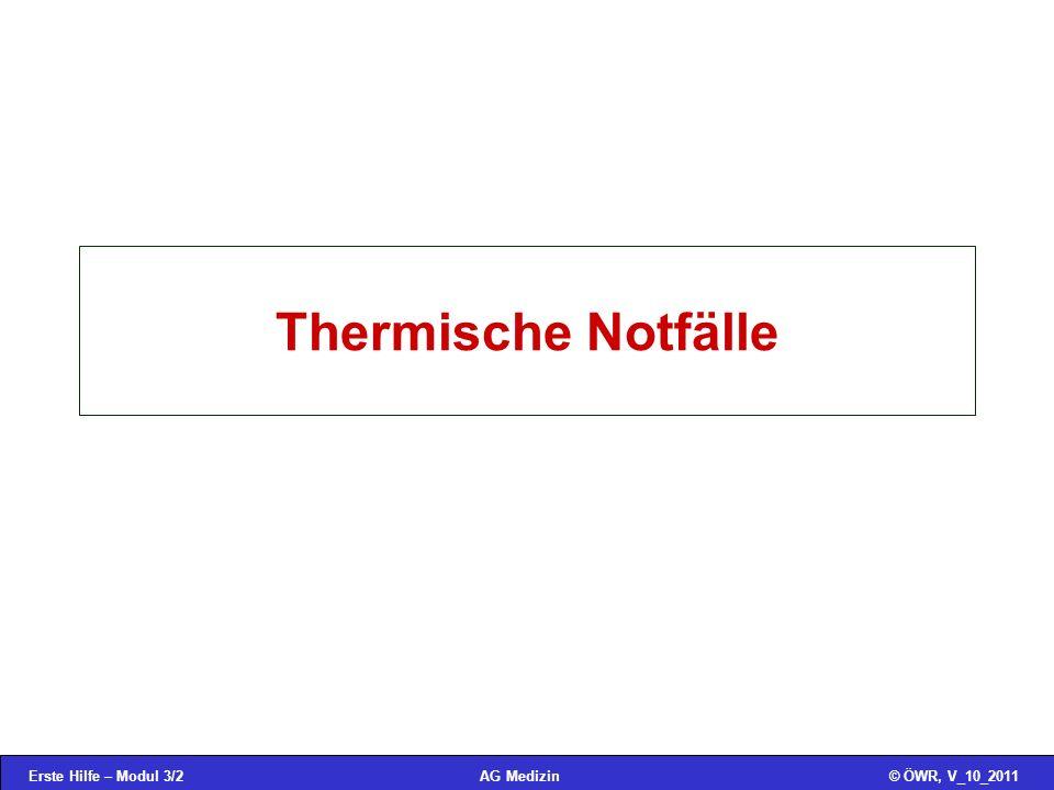 Thermische Notfälle