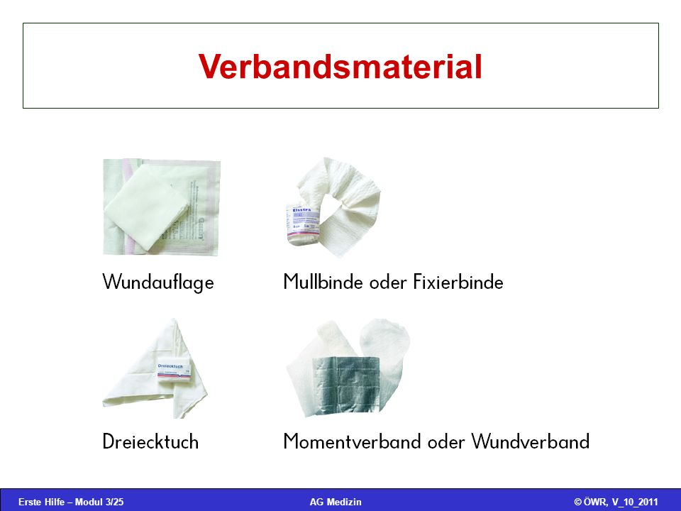 Verbandsmaterial